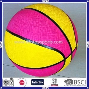 Kindergarten Size 3 Children Playing Interior and Outdoor Rubber Basketball Balls pictures & photos