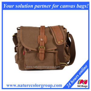 Vintage Canvas Leather Messenger Bag, Casual Shoulder Bag Crossbody (MSB-006) pictures & photos