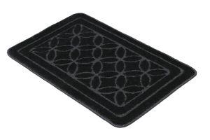Black Anti Skid 2 Pieces Bath Mat Sets