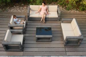Soft Cushion Waterproof Garden Wicker Rattan Outdoor Sofa (FS-3551+FS-3552+FS-3553+FS-3554) pictures & photos