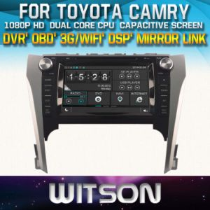 Witson Car DVD Player with GPS for Toyoya Camry 2012-2014 (W2-D8127T) Touch Screen Steering Wheel Control WiFi 3G RDS pictures & photos