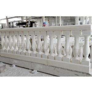 Beige Limestone/Marble/Granite Stone Balusters with Railing Handrail