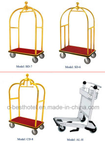 Stainless Steel Hotel Luggage Baggage Service Cart pictures & photos
