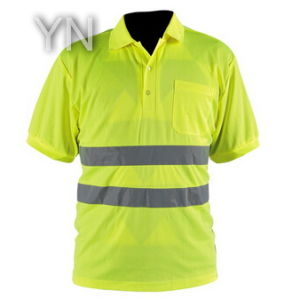 High Visibility Yellow T-Shirt/Jacket/Clothing with Grey Reflective Tape pictures & photos
