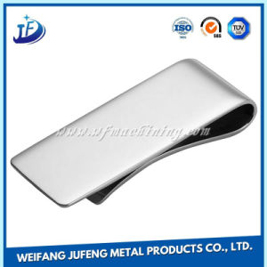 Steel/Aluminum/Brass Stamping Money Clip with Customized Logo pictures & photos