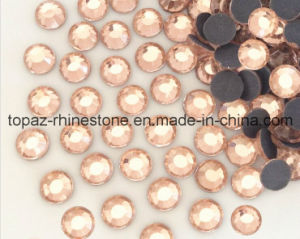 China Factory Wholesale Hot Fix Rhinestones for Clothes (SS10peach/A Grade) pictures & photos