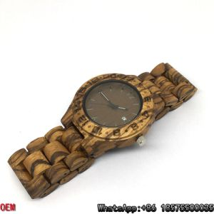 Top-Quality Zebra-Wooden Watches Date Quartz Watches pictures & photos