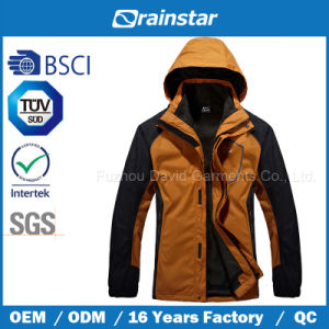 Water Repellency Warm Fleece Jacket with Detachable Hood