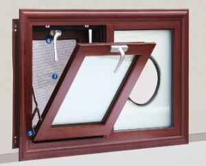 Water Proof Aluminum Double Glazing Awning Window with Steel Mesh pictures & photos