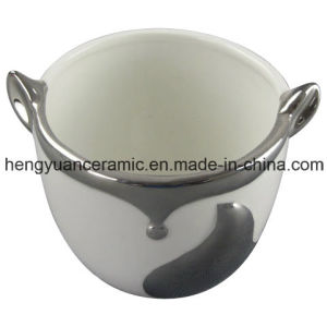 Electroplating Fox Shape Ceramic Flower Pot for Home Furnishings pictures & photos