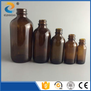 Series Amber Glass Boston Bottle with Sterile Cap