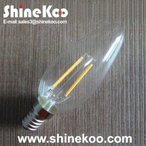 Glass C35 2W LED Filament House Bulb pictures & photos