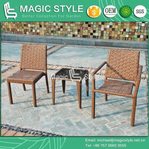 Flower Weaving Chair Outdoor Armchair Garden Armless Chair Patio Wicker Chair (Magic Style) pictures & photos
