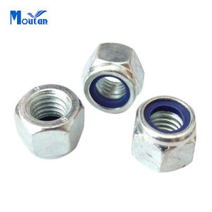 Zinc Plated Carbon Steel Nylon Insert Lock Nuts