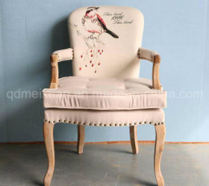 Solid Wooden Chairs Living Room Chairs Coffee Chairs Fabric Chairs (M-X2537) pictures & photos