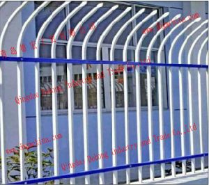 Used 3000*1700mm Security Black Wrought Iron Fence with Powder Coating Designs/Decorative Galvanized Steel Garden/Pool Fencing pictures & photos