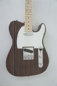 China Electric Guitar Factory Exotic Solid Zebrawood Telecaster Guitar pictures & photos