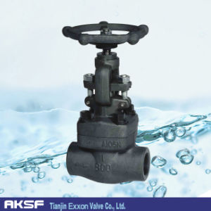 A105 Welded/ Flange Type Forged Steel Globe Valve pictures & photos