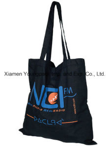 Promotional Custom Printed Black Cotton Canvas Carrier Shopping Bag pictures & photos
