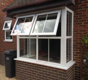 UPVC Balcony Plastic Windows (BHP-CWP08) pictures & photos