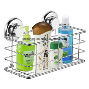 Suction Vacuum Shampoo Bottle Storage Bathroom Basket