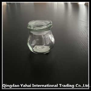90ml Small Glass Spicy Jar with Glass Lid pictures & photos