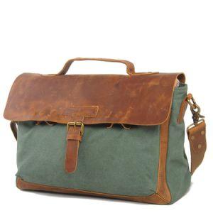 Canvas Man Patchwork Vintage Leather Handbag (RS-2012DB) pictures & photos