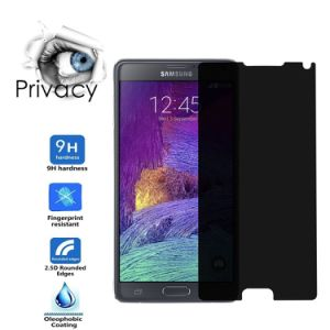Privecy Phone Accessories Anti-Spy Screen Protector for Samsung Note4 pictures & photos
