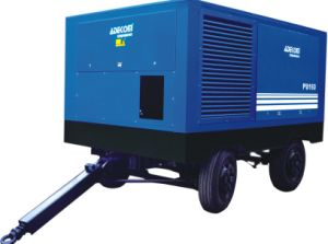 Road Building Electric Driven Mobile Portable Air Compressor (PUE185-08) pictures & photos