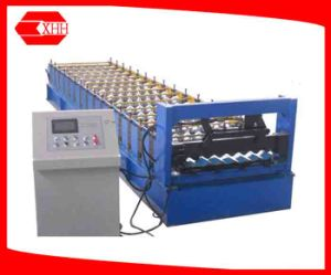 Aluminium Roofing Corrugating Sheet Roll Forming Machine (YX18-765-1040) pictures & photos