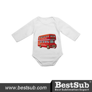 Bestsub Long Sleeve Personalized Printed Polyester Baby Romper (JA602W) pictures & photos