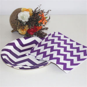 Purple and White Mix Colors Striped Paper Napkin pictures & photos