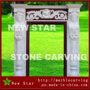 States Suclpture Carving White Stone Door Surrounds pictures & photos