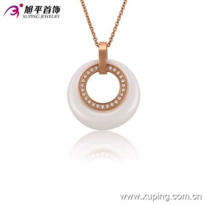 Fashion Women Rose Gold-Plated Imitation CZ Jewelry Ceramic Necklace or Chain --42892 pictures & photos