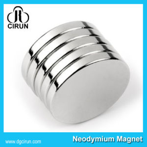 N35 Disc Sintered Permanent Neodymium Rare Earth Magnets for Loudspeaker