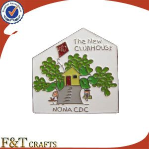 Cheap Bulk Tree House Shape Party Gift Metal Badge (FTBD8241J) pictures & photos
