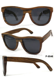 New Fashion Wooden Sunglasses with CE Polarized Lens UV400 Protection