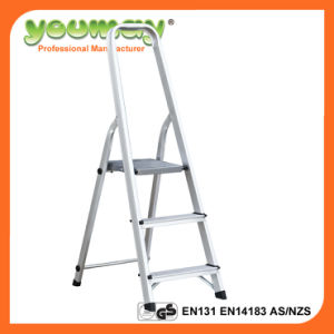 En131 Aluminum Step Ladder Af0303A/Ladder/3 Steps/Trolley Ladder