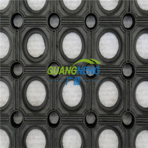 Cheap Anti-Fatigueindoor Rubber Mat, Anti-Static Laboratory Rubber Flooring, Drainage Rubber Mat, Square  Rubber  Tile pictures & photos