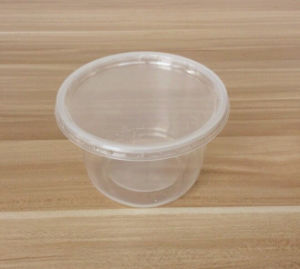 PP/Pet Round Container for Food Storage in Transparent Color pictures & photos