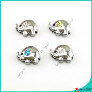 Silver Elephant Charms for Slide Jewelry (SC16041907)