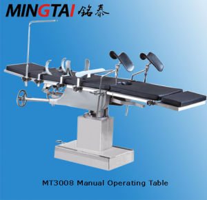 Mingtai Manual Operating Table Mt3008 with CE Certificate pictures & photos