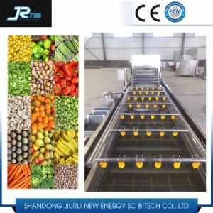 Stainless Steel Bubble High Pressure Spraying Roller Brush Fruit Washer pictures & photos