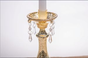 Clear Glass Candle Holder for Decoration with Five Posters pictures & photos