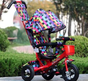China Good Quality 4 in 1 Pedal Trike, Child Push Tricycle in Grib Colour pictures & photos