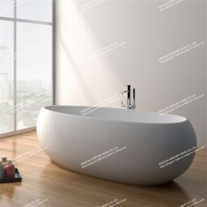Modern Design Stone Resin Artificial Stone Freestanding Bathroom Mineral Bathtub (JZ8622)