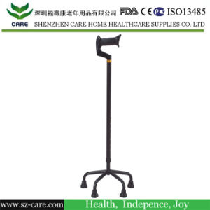 Small Base Four Legs Walking Stick Walking Aids for Disabled pictures & photos