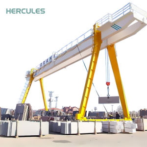 Heavy Duty Double Girder Travelling Gantry Crane for Store Yard pictures & photos