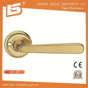 Brass Rosette Lock Door Handle-Ah90 pictures & photos