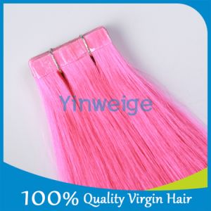 Pink Double Drawn Whosale Tape Natural Human Hair Extensions for Black Women